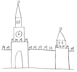 Кремль дети рисовали